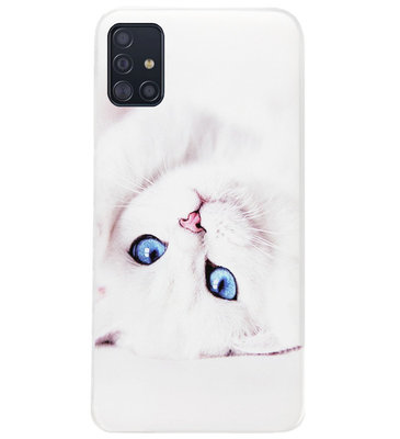 ADEL Siliconen Back Cover Softcase Hoesje voor Samsung Galaxy A71 - Katten