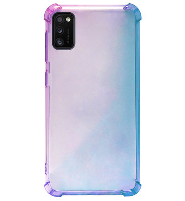 ADEL Siliconen Back Cover Softcase Hoesje voor Samsung Galaxy A41 - Kleurovergang Blauw Paars