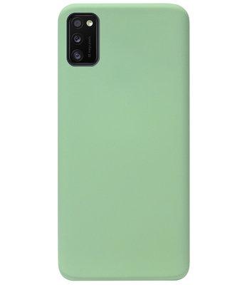 ADEL Premium Siliconen Back Cover Softcase Hoesje voor Samsung Galaxy A41 - Lichtgroen