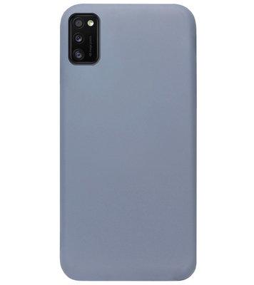 ADEL Premium Siliconen Back Cover Softcase Hoesje voor Samsung Galaxy A41 - Lavendel
