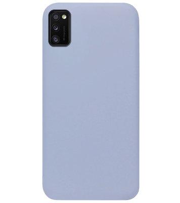 ADEL Premium Siliconen Back Cover Softcase Hoesje voor Samsung Galaxy A41 - Lavendel Grijs