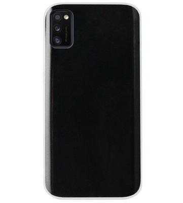 ADEL Siliconen Back Cover Softcase Hoesje voor Samsung Galaxy A41 - Doorzichtig Transparant