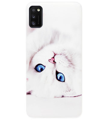 ADEL Siliconen Back Cover Softcase Hoesje voor Samsung Galaxy A41 - Katten