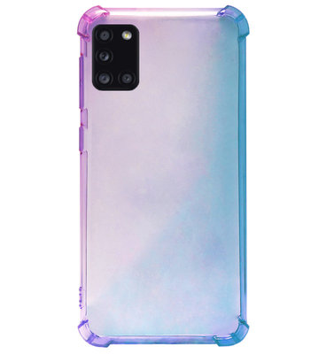 ADEL Siliconen Back Cover Softcase Hoesje voor Samsung Galaxy A31 - Kleurovergang Blauw Paars