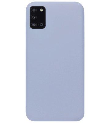 ADEL Premium Siliconen Back Cover Softcase Hoesje voor Samsung Galaxy A31 - Lavendel Grijs