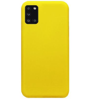 ADEL Siliconen Back Cover Softcase Hoesje voor Samsung Galaxy A31 - Geel