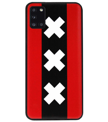 ADEL Siliconen Back Cover Softcase Hoesje voor Samsung Galaxy A31 - Amsterdam Andreaskruisen