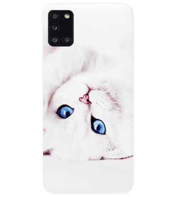 ADEL Siliconen Back Cover Softcase Hoesje voor Samsung Galaxy A31 - Katten