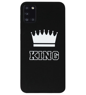 ADEL Siliconen Back Cover Softcase Hoesje voor Samsung Galaxy A31 - King