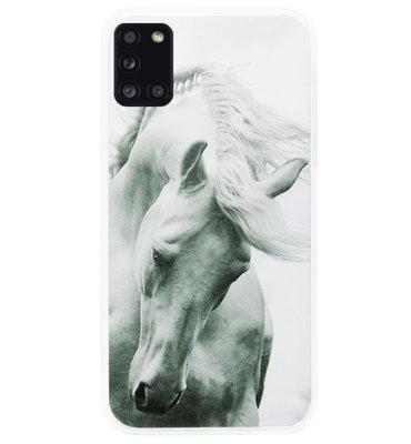 ADEL Siliconen Back Cover Softcase Hoesje voor Samsung Galaxy A31 - Paarden