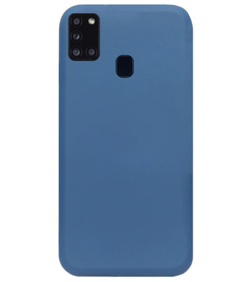 ADEL Premium Siliconen Back Cover Softcase Hoesje voor Samsung Galaxy A21s - Blauw