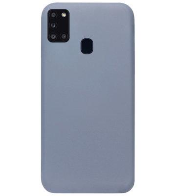 ADEL Premium Siliconen Back Cover Softcase Hoesje voor Samsung Galaxy A21s - Lavendel