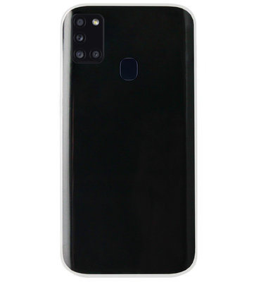 ADEL Siliconen Back Cover Softcase Hoesje voor Samsung Galaxy A21s - Doorzichtig Transparant