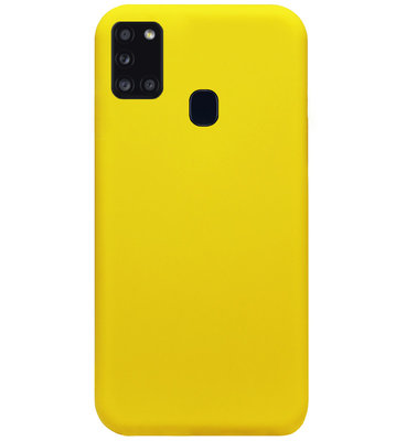 ADEL Siliconen Back Cover Softcase Hoesje voor Samsung Galaxy A21s - Geel