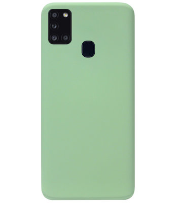 ADEL Premium Siliconen Back Cover Softcase Hoesje voor Samsung Galaxy A21s - Lichtgroen