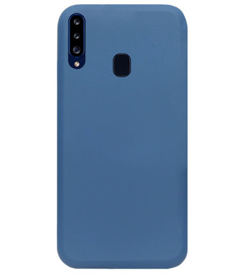 ADEL Premium Siliconen Back Cover Softcase Hoesje voor Samsung Galaxy A20s - Blauw