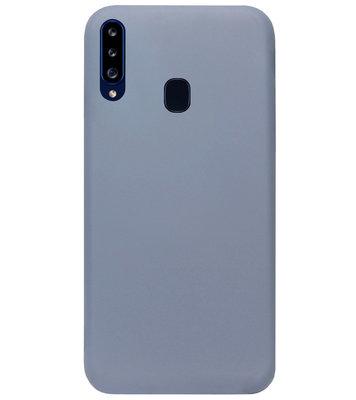 ADEL Premium Siliconen Back Cover Softcase Hoesje voor Samsung Galaxy A20s - Lavendel