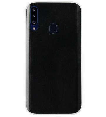 ADEL Siliconen Back Cover Softcase Hoesje voor Samsung Galaxy A20s - Doorzichtig Transparant
