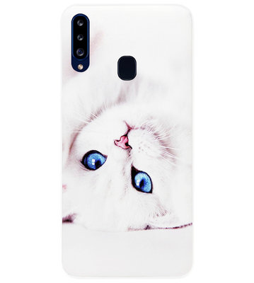 ADEL Siliconen Back Cover Softcase Hoesje voor Samsung Galaxy A20s - Katten