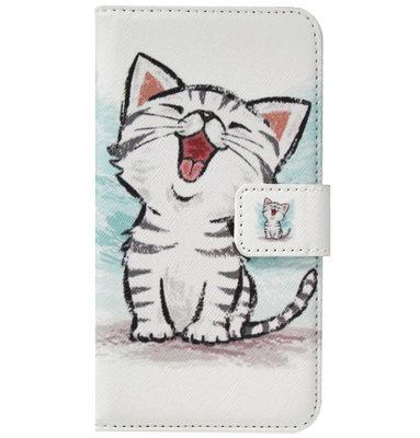 ADEL Kunstleren Book Case Pasjes Portemonnee Hoesje voor Samsung Galaxy A20s - Katten