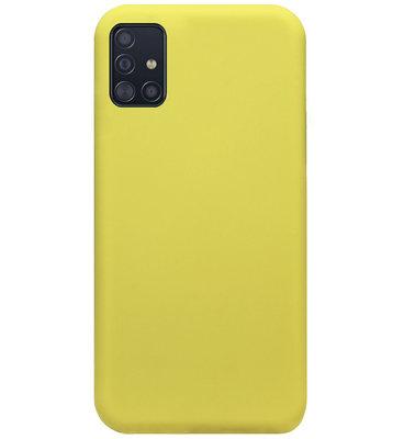 ADEL Premium Siliconen Back Cover Softcase Hoesje voor Samsung Galaxy A71 - Geel