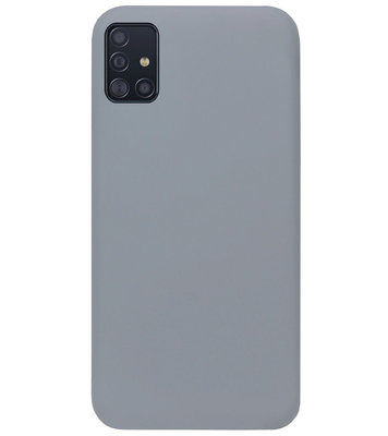 ADEL Siliconen Back Cover Softcase Hoesje voor Samsung Galaxy A71 - Grijs