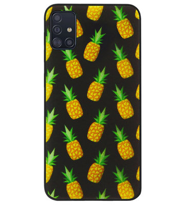 ADEL Siliconen Back Cover Softcase Hoesje voor Samsung Galaxy A71 - Ananas