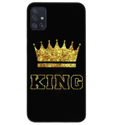 ADEL Siliconen Back Cover Softcase Hoesje voor Samsung Galaxy A71 - King Koning