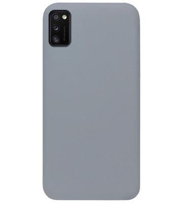 ADEL Siliconen Back Cover Softcase Hoesje voor Samsung Galaxy A41 - Grijs