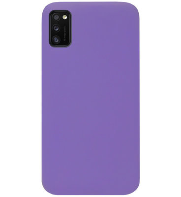 ADEL Siliconen Back Cover Softcase Hoesje voor Samsung Galaxy A41 - Paars