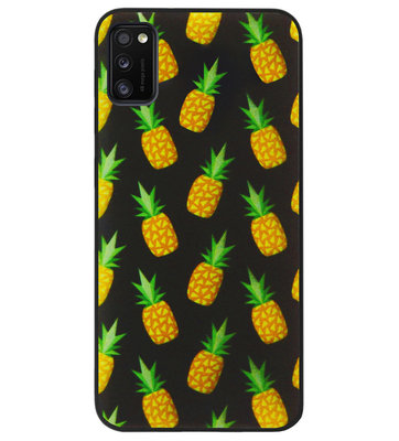 ADEL Siliconen Back Cover Softcase Hoesje voor Samsung Galaxy A41 - Ananas