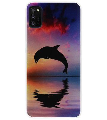 ADEL Kunststof Back Cover Hardcase Hoesje voor Samsung Galaxy A41 - Dolfijn