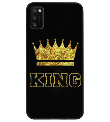 ADEL Siliconen Back Cover Softcase Hoesje voor Samsung Galaxy A41 - King Koning
