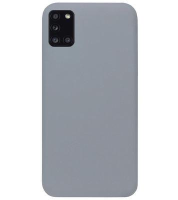 ADEL Siliconen Back Cover Softcase Hoesje voor Samsung Galaxy A31 - Grijs
