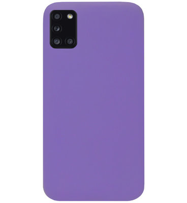 ADEL Siliconen Back Cover Softcase Hoesje voor Samsung Galaxy A31 - Paars