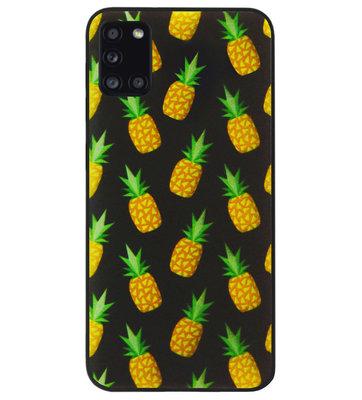 ADEL Siliconen Back Cover Softcase Hoesje voor Samsung Galaxy A31 - Ananas