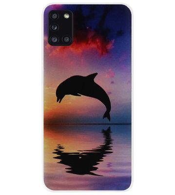 ADEL Kunststof Back Cover Hardcase Hoesje voor Samsung Galaxy A31 - Dolfijn