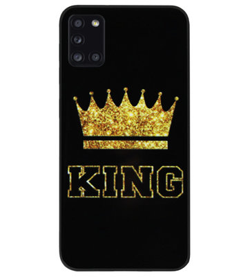 ADEL Siliconen Back Cover Softcase Hoesje voor Samsung Galaxy A31 - King Koning