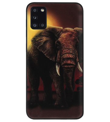 ADEL Siliconen Back Cover Softcase Hoesje voor Samsung Galaxy A31 - Olifanten
