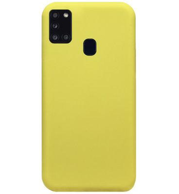 ADEL Premium Siliconen Back Cover Softcase Hoesje voor Samsung Galaxy A21s - Geel