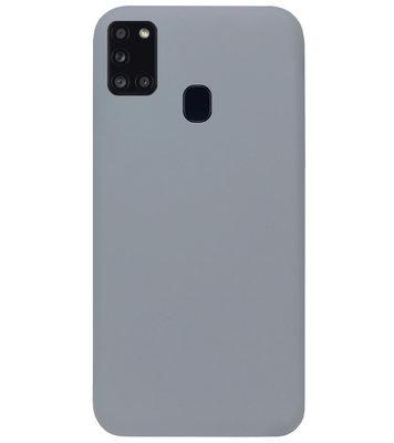 ADEL Siliconen Back Cover Softcase Hoesje voor Samsung Galaxy A21s - Grijs