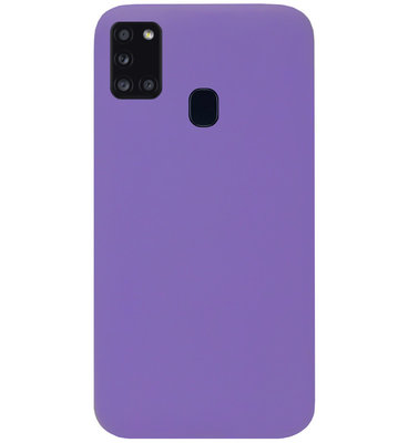 ADEL Siliconen Back Cover Softcase Hoesje voor Samsung Galaxy A21s - Paars