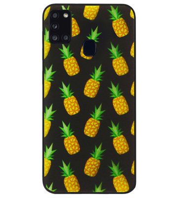 ADEL Siliconen Back Cover Softcase Hoesje voor Samsung Galaxy A21s - Ananas