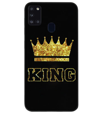 ADEL Siliconen Back Cover Softcase Hoesje voor Samsung Galaxy A21s - King Koning