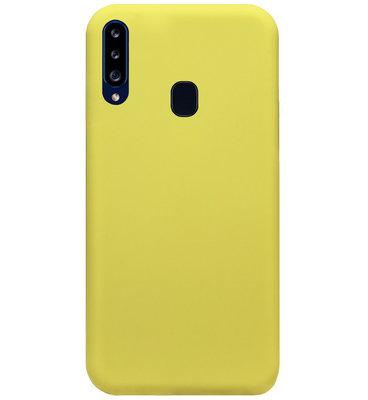 ADEL Premium Siliconen Back Cover Softcase Hoesje voor Samsung Galaxy A20s - Geel
