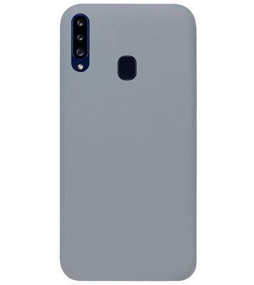 ADEL Siliconen Back Cover Softcase Hoesje voor Samsung Galaxy A20s - Grijs