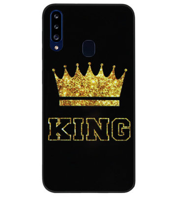 ADEL Siliconen Back Cover Softcase Hoesje voor Samsung Galaxy A20s - King Koning