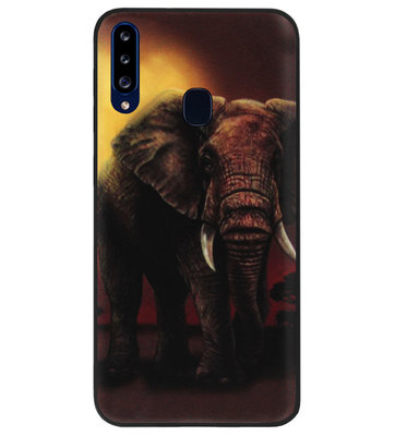 ADEL Siliconen Back Cover Softcase Hoesje voor Samsung Galaxy A20s - Olifanten