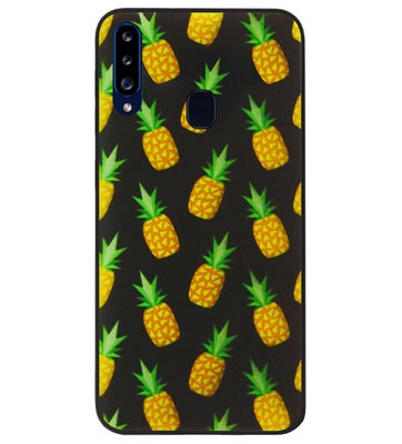 ADEL Siliconen Back Cover Softcase Hoesje voor Samsung Galaxy A20s - Ananas