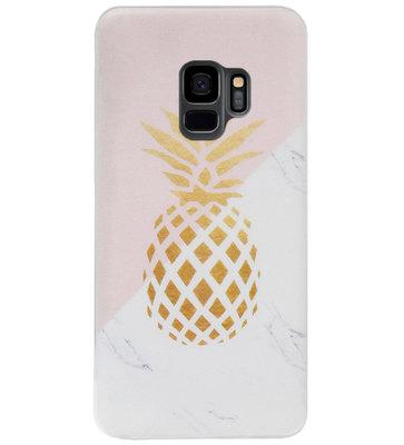 ADEL Siliconen Back Cover Softcase Hoesje voor Samsung Galaxy S9 - Ananas